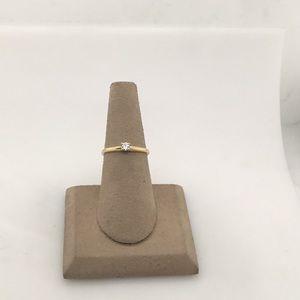 Jewelry - 14 yellow gold ladies diamond engagement ring
